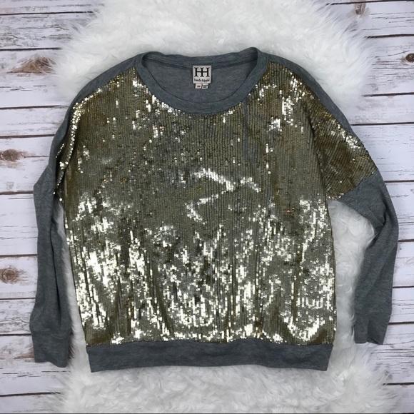 cc414e7c1c Haute Hippie Sweaters - ❤️Haute Hippie Gold Sequin Front Modal Sweater